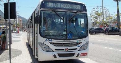Em Caraguatatuba, linhas de ônibus circulam em horário diferenciado